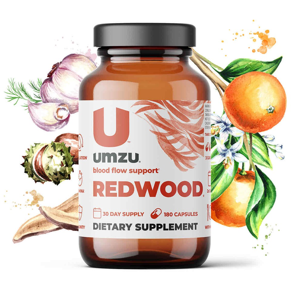Front view of Redwood supplement bottle