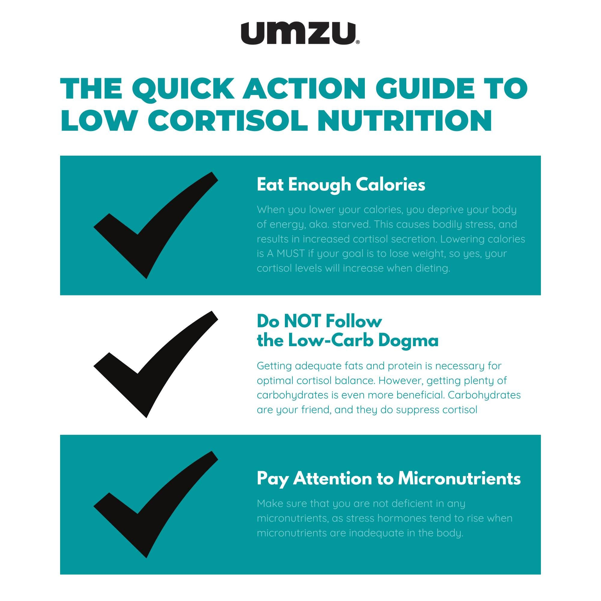 low cortisol nutrition
